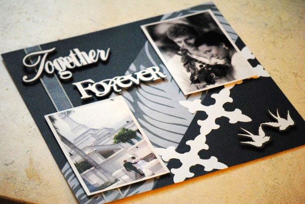 how to do a wedding scrapbook