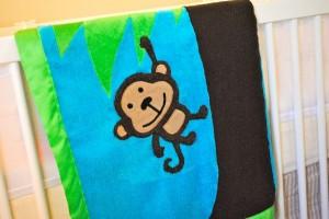 "Cricut ""Create a Critter"" Appliquéd Baby Blanket"