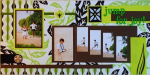 Jump for Joy Wedding Scrapbook Page
