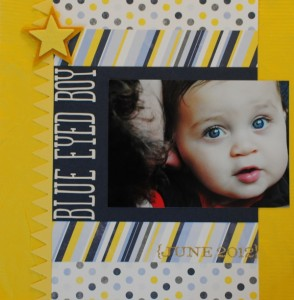 Blue Eyed Boy Scrapbook Page Layout