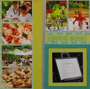 """Good Eats"" Wedding Luncheon Scrapbook Layout"