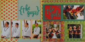 The Guys and The Gals Wedding Party Layout