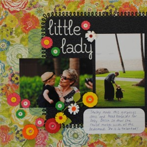 """Little Lady"" Wedding Scrapbook Page Layout"