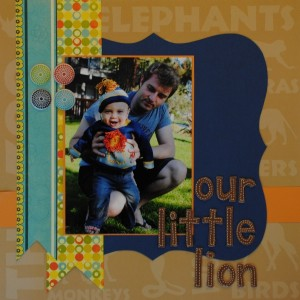 Our Little Lion Scrapbook Page Layout