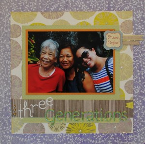 Three Generations Scrapbook Layout Featuring S.E.I.