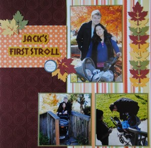 Jack's First Stroll Scrapbook Layout