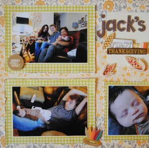 Three Picture Scrapbook Page Layout Sketch