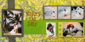 """Seize The Day"" Wedding Scrapbook Layout"