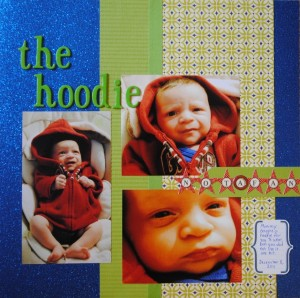 """The Hoodie — Not a Fan"" Scrapbook Page Layout"
