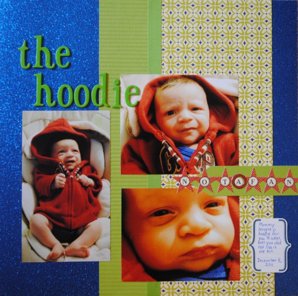 Three picture scrapbook layout page