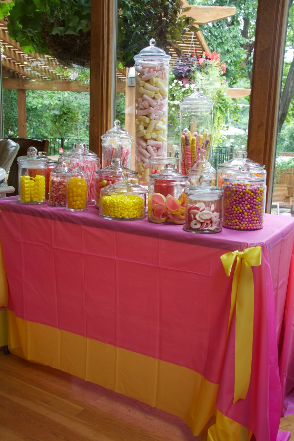 girls birthday party ideas candy display
