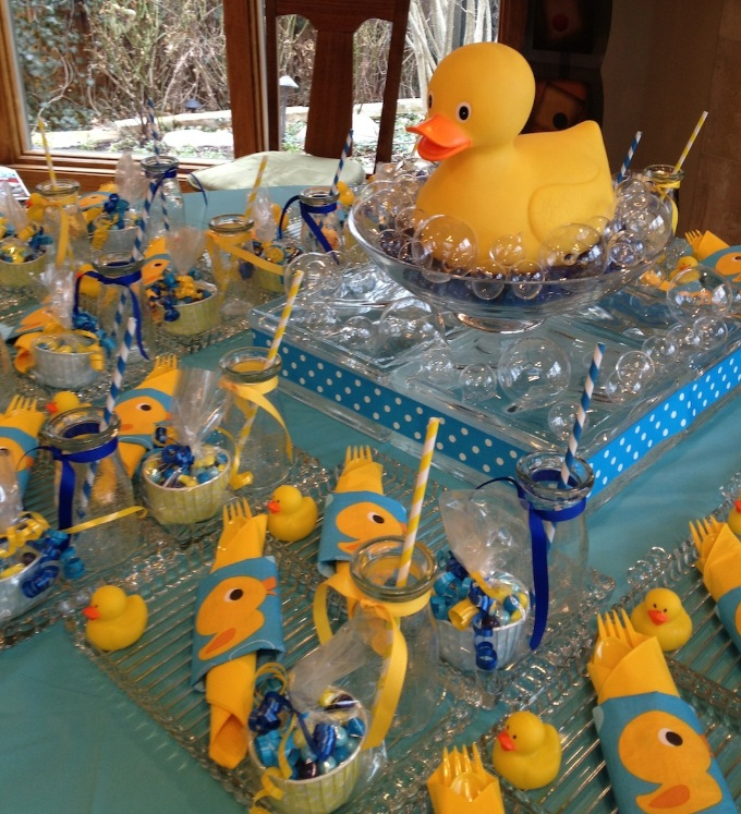 Rubber Ducky Party Table