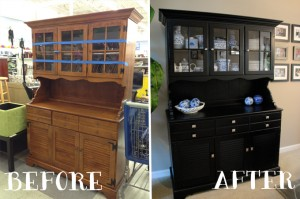 China Cabinet Hutch Makeover